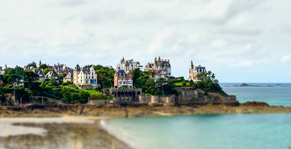 Old french mansions on the seaside of Brittany