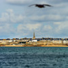 Beautiful autumnal view of St-Malo, old pirate city