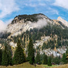 Panoramic landscape mountains videw, Alps, Switzerland, sunny day, autumn
