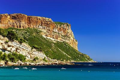 Mediterranean sea coast, summer day