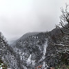 Cloudy evening in snowcovered mountains, Alsace