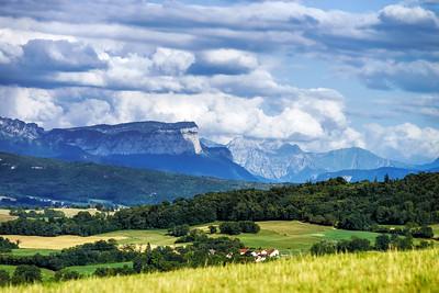 Beautiful rocks view, alpine landscape