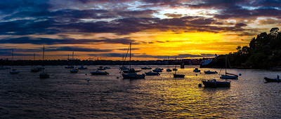 Beautiful sunset view on seaside in high resolution quality, Saint Malo, Brittany, France