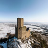 Panoramic view of the Ortenburg castle in the Vosges.