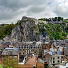 Editorial: 18th April 2017: Dinant, Belgium. High resolution panoramic aerial view