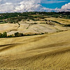 Farmland in Tuscany panoramic view. High resolution picture.