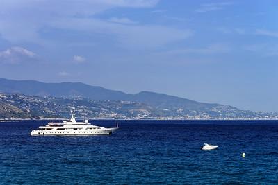 Beautiful boats on Mediterranean sea near Nice