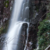Nideck waterfall in Vosges mountains, Alsace, winter evening