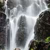 Nideck waterfall near the ruins of the medieval castle in Alsace