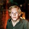 Attractive teenage boy portrait in studio