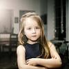Cute little girl posing indoor