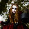 Cute little girl dressed in Halloween costume