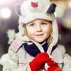 Happy childhood in little girl portrait