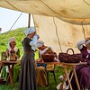 Lichtenberg, France - May 1, 2019: Medieval festival with costumes, actors and many activities for children