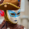 Editorial, 2nd March 2019: Rosheim, France: Venetian Carnival - most beautiful masks photographed while walking in the street