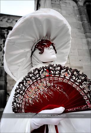 Editorial, 6 March 2016: Rosheim, France: Venetian Carnival Mask