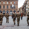 Editorial: 16th March 2020: Strasbourg, France. The empty city of Strasbourg. Quarantine time. Coronavirus epidemic. No people. Cafes and shops are closed. Empty shelves in stores. Lack of products. Military and police patrols in the streets.