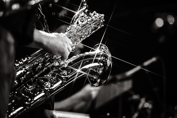 Sax playing music