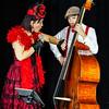 Editorial, 2nd September 2016: Illkirch, Strasbourg, France:  Concert of Christel Kern chanson music band