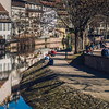 Editorial: 27th February 2019: Strasbourg, France. First sunny days in old quarter Little France.