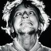 Middle-aged man making mouths, crazy portrait