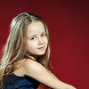 Cute little girl with long hair portrait