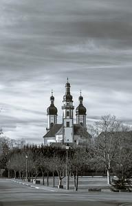 Majestic Ebersmunster Abbey outside view