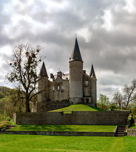 Classic medieval Castle of Veves in Belgium