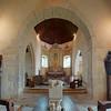 Little village church interior, medieval architecture, France