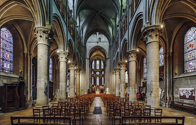 Paroisse Notre Dame of Dijon interior view, France