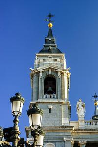 Elegant cathedral on blue sky background