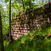 Ruins of the medieval castle of Nidek in the Vosges mountains, Alsace