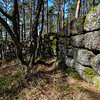 Prehistoric Celtic wall surrounding a sacred mountain in Alsace