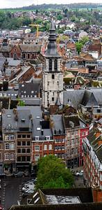 Editorial: 17th April 2017: Namur, Belgium. High resolution panoramic aerial view.