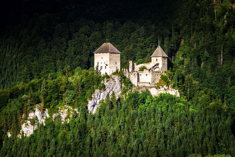 Old medieval castle Gallenstein in Austria