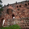 Medieval Castle Landsberg in Vosges, Alsace. Ancient ruins in the mountains.