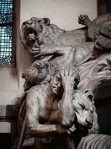 Monument to Marshall Maurice of Saxony in the Saint Thomas church, Strasbourg