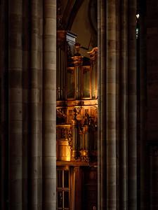 Pipe organ of Zolbermann in the Church Saint Thomas, Strasbourg