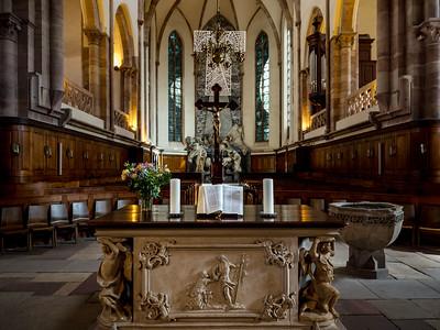 Details of interior of the Church Saint Thomas, Strasbourg