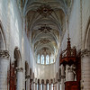 Majestic St. Peter's Church interior, Auxerre, France