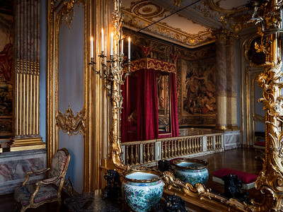 Beautiful luxury interior of Rohan palace in Strasbourg, royal museum