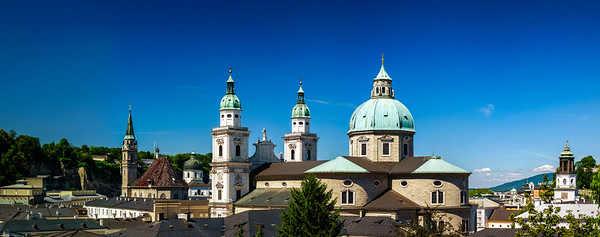 Cityscape of Salzburg with beautiful church