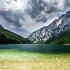Beautiful lake in austrian mountains