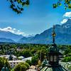 Alpine landscape view in Salzburg, Austria