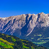 Beautiful mountain landscape view in Alps