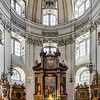 Beautiful baroque interior of Salzburg cathedral