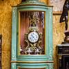 Old retro mantel cloch in antique shop