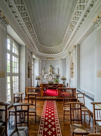Old medieval castle interior