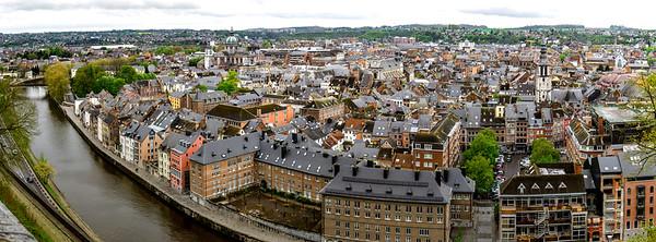 Roofs of Namur beautiful high resolution panoramic view
