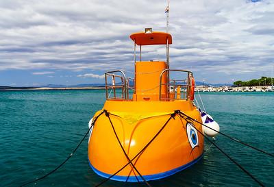 Ships and yachts on Adriatic sea, Croatia